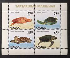 ANGOLA SEA TURTLE STAMPS SHEET 2007 MNH HAWKSBILL LOGGERHEAD GREEN MARINE LIFE