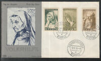 SAAR THE SAARLAND of 2 beautiful FDC 1955 - Painting Albrecht Dürer