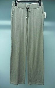 NWT Women's Croft & Barrow Gray Drawstring Waist Pants Size XS Retail $32