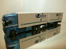 TEKNO HOLLAND SCANIA 144L 460 TRUCK + TRAILER - BERGEIJK - BLUE 1:50- VERY GOOD