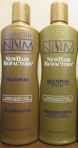 2x Nisim New Hair Biofactors Shampoo For Normal To Oily Hair 8 oz