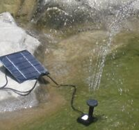 Solar Fountain Submersible Water Pump Power Panel Home Garden Pool Pond W
