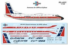 Revaro Decal An-24RV CUBANA (for A-model and Eastern Express model) 1/144