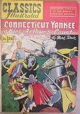 Classics Illustrated Connecticut Yankee King Arthurs Court #24 (Hrn 60) F+ 6.5