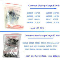 1390pcs/Set Electronic Components Kit Basic Electronics Transistors Assortment