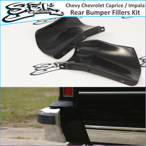 Chevy Chevrolet Caprice / Impala 86-90 Rear Bumper Quarter Panel Fillers Kit ABS