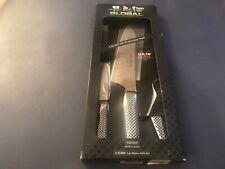 Global 3-Piece Kitchen Knife Set Cromova 18 Ss # G-833890 New Retail $235