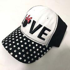 Minnie Mouse LOVE Disney Unisex Strapback Baseball Black and White Hat Cap NEW