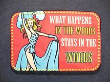 What Happens in The Woods...The Woodlands of College Station Texas T Shirt S