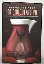 Williams Sonoma Hot Chocolate Pot Froth And Pour Red New in Box