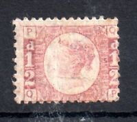 GB QV 1870 1/2d rose SG49 Plate 5 MNH unmounted mint WS13797