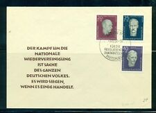 Germany - East #B33-35 on unaddressed FDC
