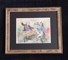 "James Gillray ""God Save the King"" hand colored etching"