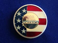 SilverTowne God Bless America Enameled Silver Art Medal P2716