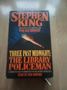 STEPHEN KING THREE PAST MIDNIGHT: THE LIBRARY POLICEMAN AUDIO BOOK CASSETTE