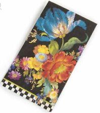 New MacKenzie Childs Flower Market Guest Black Paper Napkins /15 per pack/