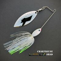 Bassdozer spinnerbaits SHORT ARM WILLOW 3/8 oz CHARTREUSE SHAD spinner bait