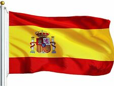 G128 Spain (Spanish) Flag 75D Printed Polyester 3x5 Ft