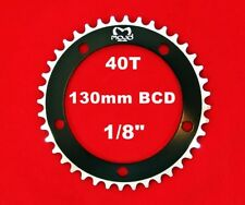 """MOJO Fixed Gear Chainring 40T - 130 BCD Track Fixie single speed 1/8"""" - BLACK"""