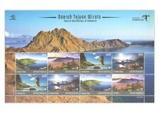 Indonesia 2017 Tourism Destinations Scenery Stamp Sheet Mint Unhinged MUH