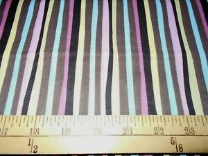 1 yard  Springs Animal Talk Stripe Fabric