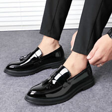 Classic Mens Spring Autumn Black Business Shoes Patent Leather Working Shoes