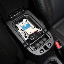 Black Interior Armrest Storage Box Holder For Jeep Compass 2nd Gen 2017