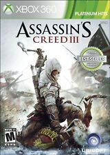 XBOX 360 GAME ASSASSIN'S CREED III 3 BRAND NEW & FACTORY SEALED