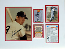 Ted Williams Original Autograph Photograph with Card Matted Ready To Frame