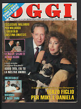 OGGI 50/1988 ANNA OXA GOLDEN LADY CALZE FLORENCE GRIFFITH CLEMENCEAU LADY DIANA