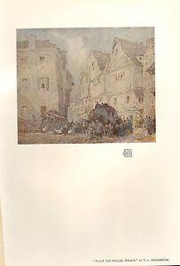 1904 STUDIO PRINT ~ PLACE DES HALLES MALAIX by T. L. SHOOMITH