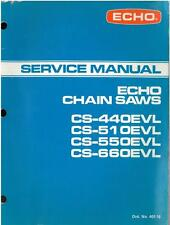 ECHO CAHIN SAW CS-440EVL CS-510EVL CS550EVL CS-660EVL WORKSHOP SERVICE MANUAL