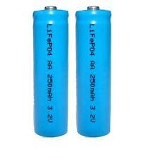 2 x 3.2V LiFePO4 14500 AA 250mAh Li-Ion Rechargeable Batteries for Solar Lights