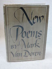 Mark Van Doren  NEW POEMS 1st Edition  William Sloane Associates, Inc. NY, 1948