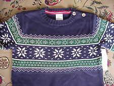 Nwt Wonderkids Toddler Boy Navy Cotton Sweater 12 mos