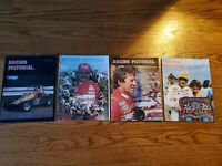 Vintage Racing Pictorial 80s Indycar NASCAR Andretti Rutherford Rauhl - Lot of 4