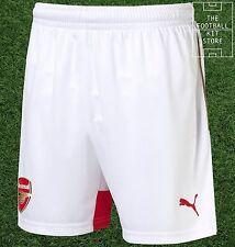 Arsenal Home Shorts  - Official Puma Boys Football Shorts - All Sizes