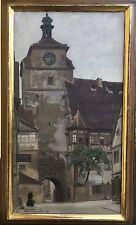 EMIL ÖSTERMAN (1870-1927) STADTANSICHT VON ROTHENBURG 1896 — 68 x 40 CM