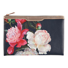 Love Blooms Navy Floral Cosmetic Pouch – Makeup Clutch Bag Beauty Make-up Travel