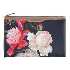 Love Blooms Blu Navy Floreale cosmetico BUSTINA – Trucco Pochette borsa