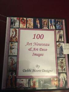 Debbi Moore Designs 100 Art Nouveau and Art Deco Images CD-ROM digital craft