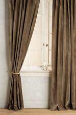 NEW $288 ANTHROPOLOGIE Matte Velvet Curtain Single Panels 96 X 50 Brown