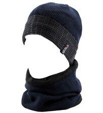 Cappello cuffia Invernale Uomo + Scaldacollo SWEET YEARS interno Pile Blu