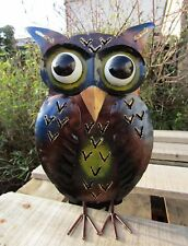 Fair Trade Hand Made Carved Metal Owl T Tea Light Candle Holder Lantern Statue