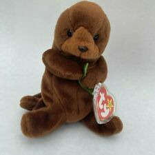 Discontinued 1995 Mint ConditionSeaweed The Otter Beanie Babie With Tag Errors