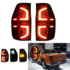 Smoked LED Tail Rear Lamp Lights For Ford Ranger PX T6 MK2 MKII XL XLT 2011- on