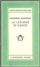 MANSFIELD, Katherine: La lezione di canto e altri racconti Mondadori Medusa 193