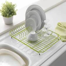 ADDIS WIRE DISH DRAINER PLATE RACK COATED LIME GREEN 43 x 33cm **BRAND NEW**
