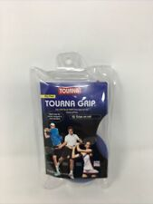 Tourna Grip Original Dry Feel Tennis Grip 10  -Light Blue w/ Red Finish Tape