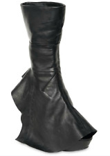 SUPER GORGEOUS!!! Camilla Skovgaard Draped Leather WEDGE BOOTS EU 36.5 US 6.5